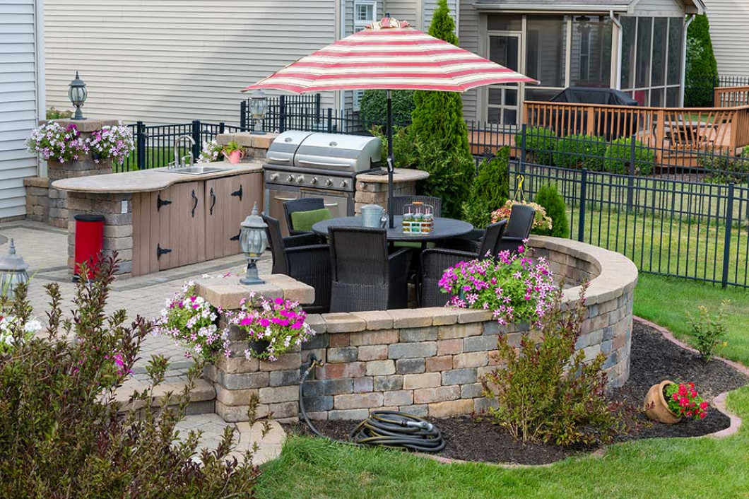 Stay warm with an outdoor fireplace installation