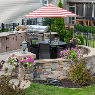 outdoor kitchen installation in buffalo and cheektowaga ny